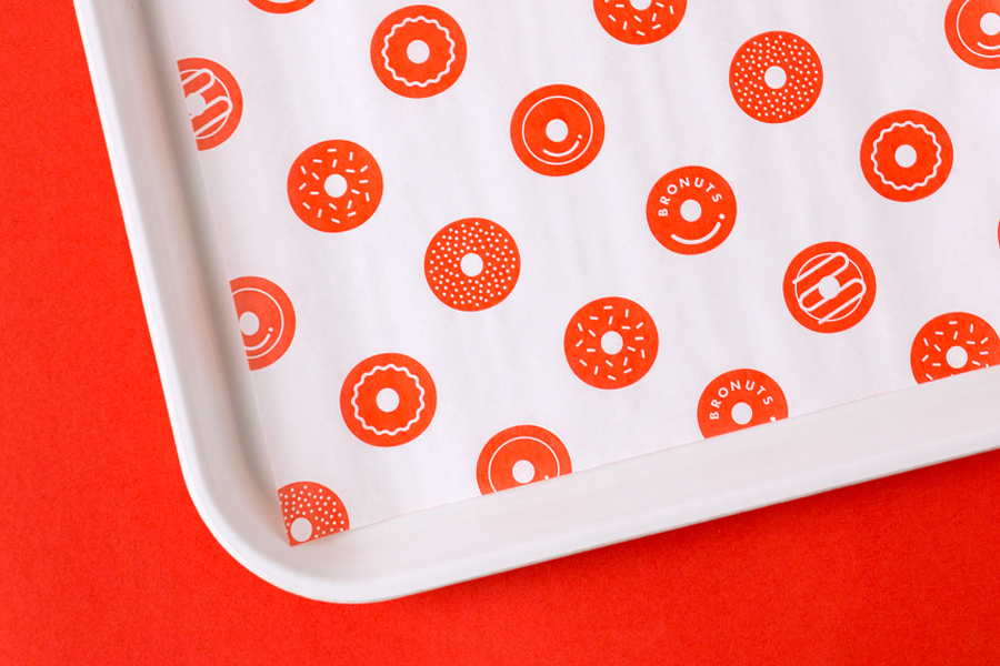 Visual identity and illustration for coffee and doughnut business Bronuts by Canadian graphic design studio One Plus One