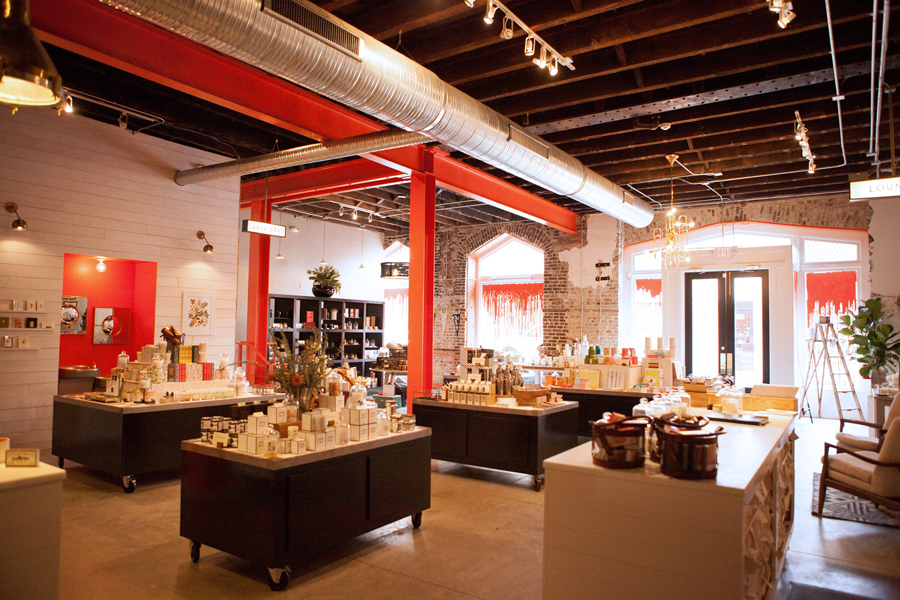 Interior of Charleston based handcrafted scented candle retailer Candlefish