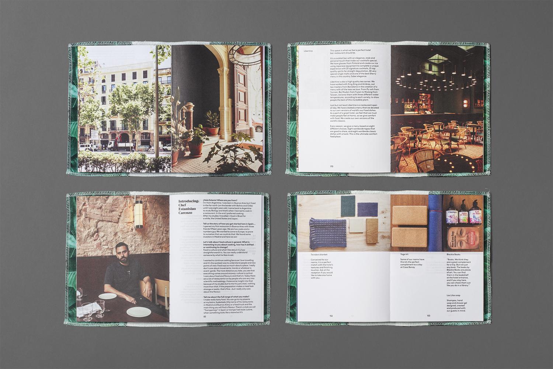 Brand identity design for Barcelona hotel Casa Bonay by Mucho, Spain