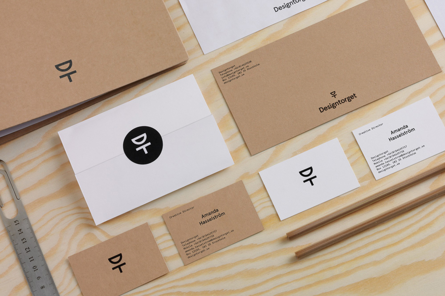 Logo, business cards and stationery by Kurppa Hosk for Swedish contemporary furniture, art and design curator and retailer Designtorget