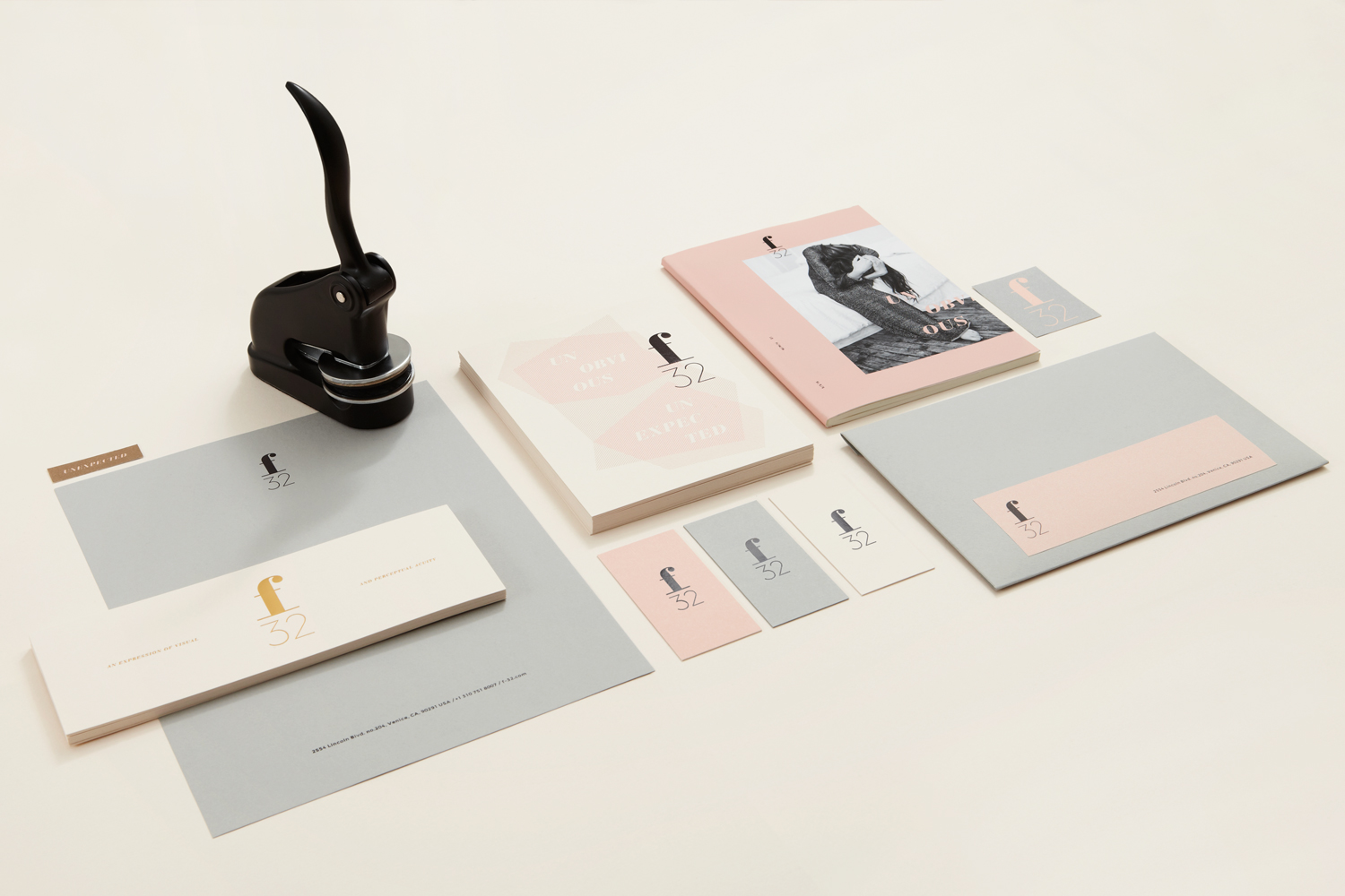 Brand identity by Blok for LA based trend-watching company f32