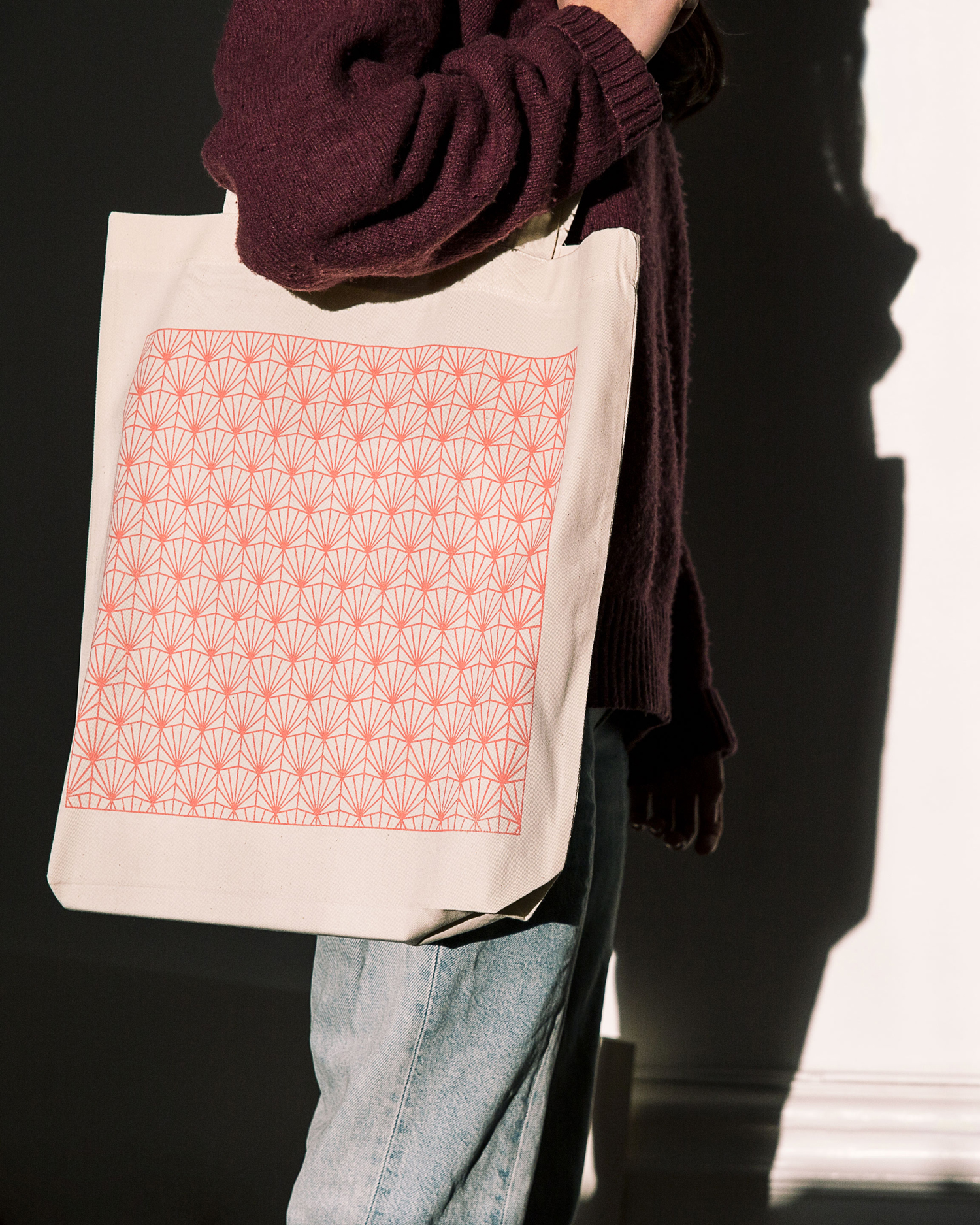 Branded tote bag by Stockholm-based Bedow for Swedish media company Fab Media
