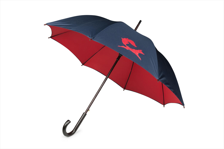 Brand identity and branded umbrella for Fox Real Estate by Parallax Design, Australia