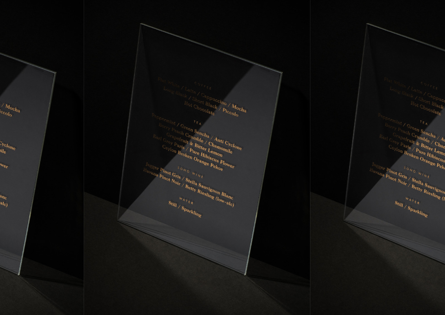 Brand identity and signage with bronze foil detail for Auckland-based luxe salon M11 designed by Inhouse, New Zealand