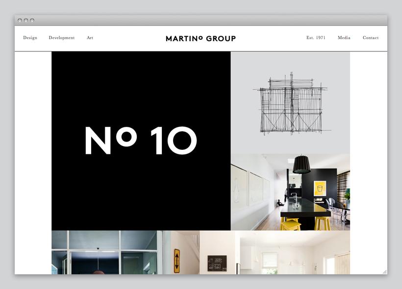 Logo and responsive website for Australian property developer Martino Group designed by Studio Hi Ho