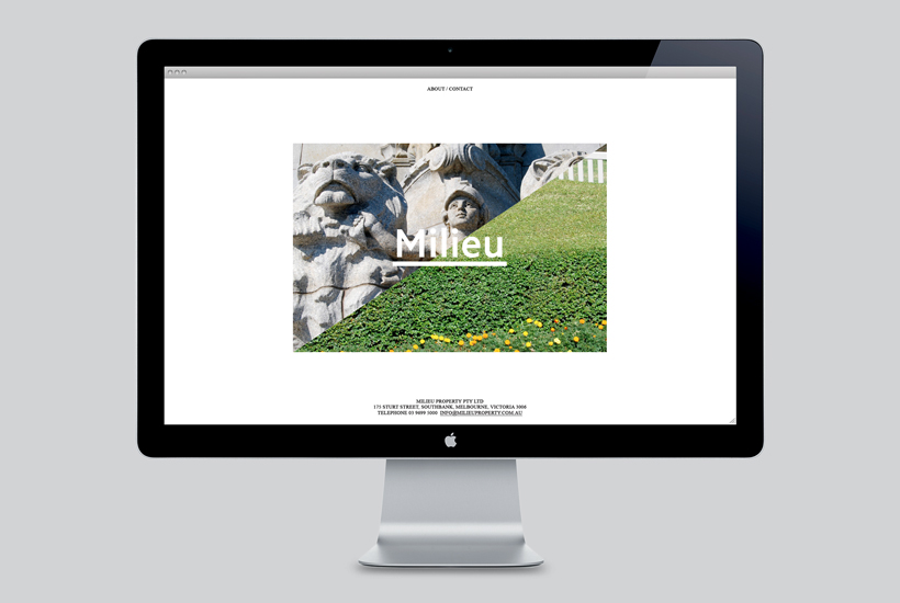 Photography and website design by Hi Ho for Melbourne-based boutique developer Milieu