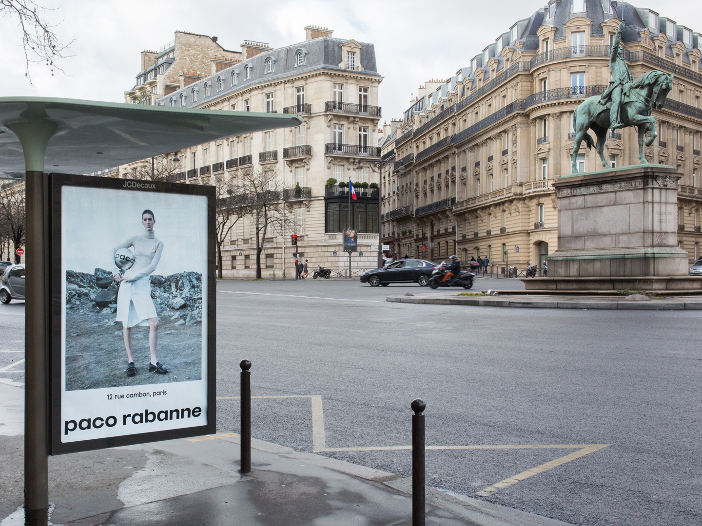 Brand identity, art direction and campaign for French fashion label Paco Rabanne by Zak Group, United Kingdom
