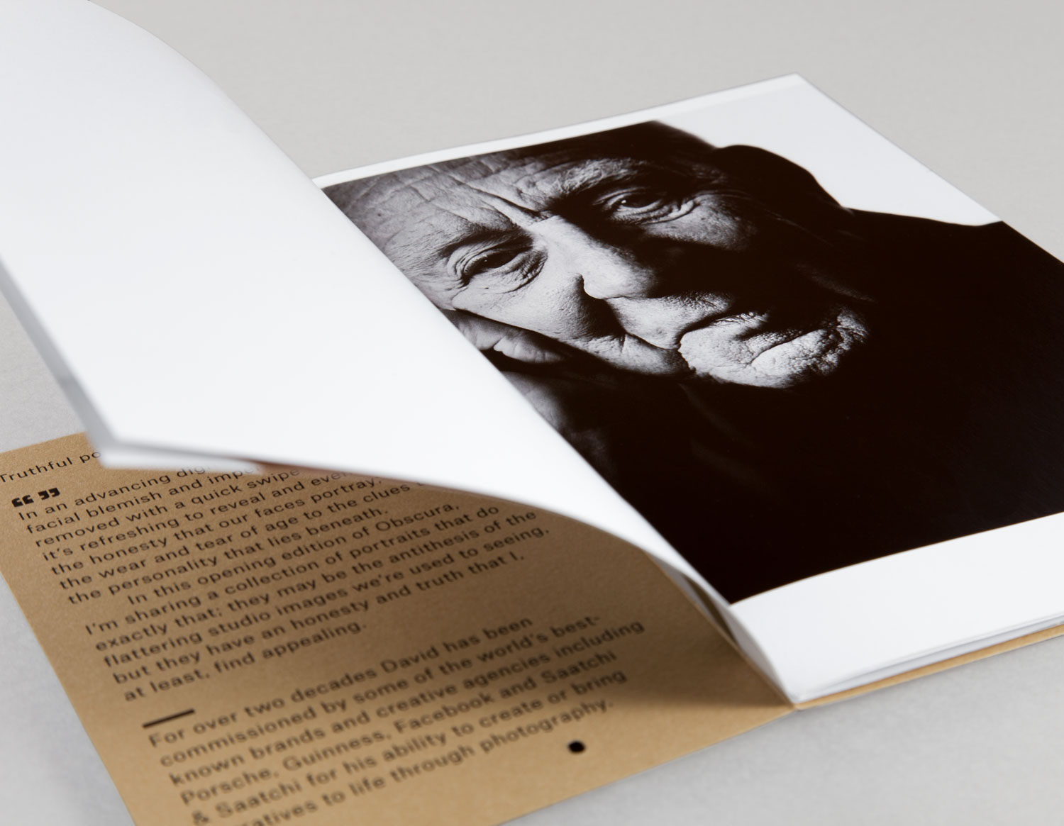 Brand identity and lookbook by London-based graphic design studio ico Design for photographer David Rowland