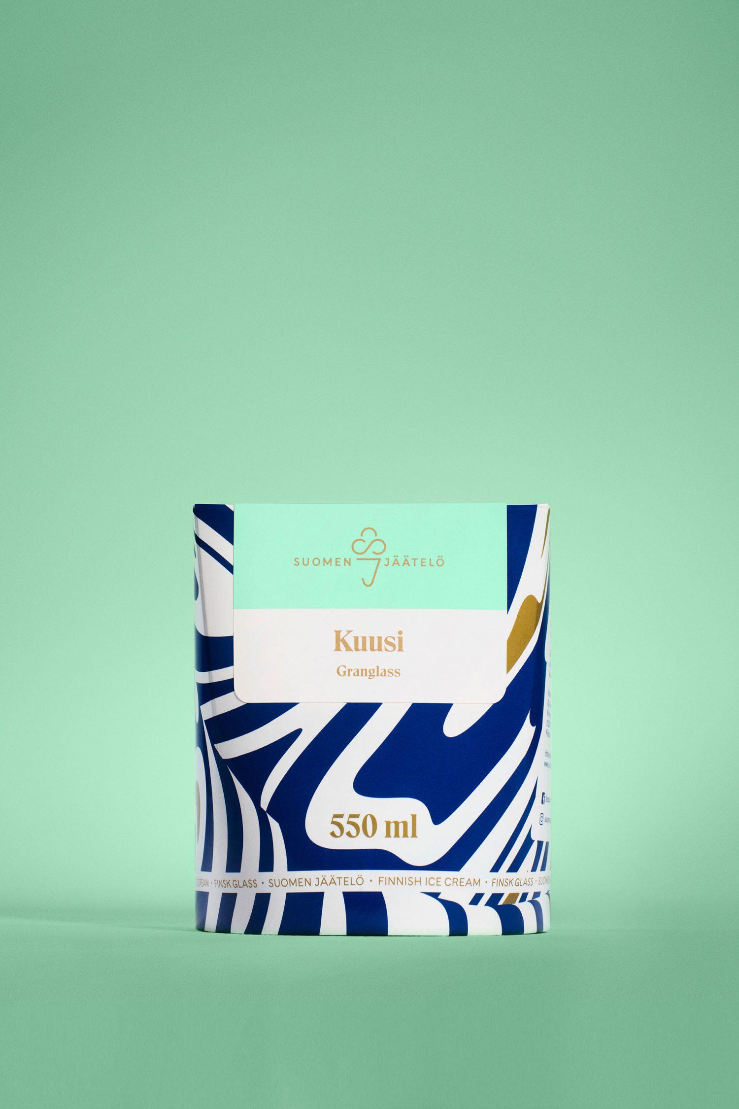 Brand identity and package design by Helsinki-based Werklig for Finnish ice cream brand Suomen Jäätelö