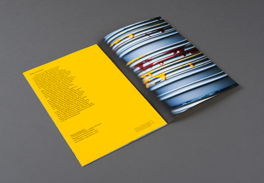 Brochure for Leeds based print production business Team Impression by Design Project