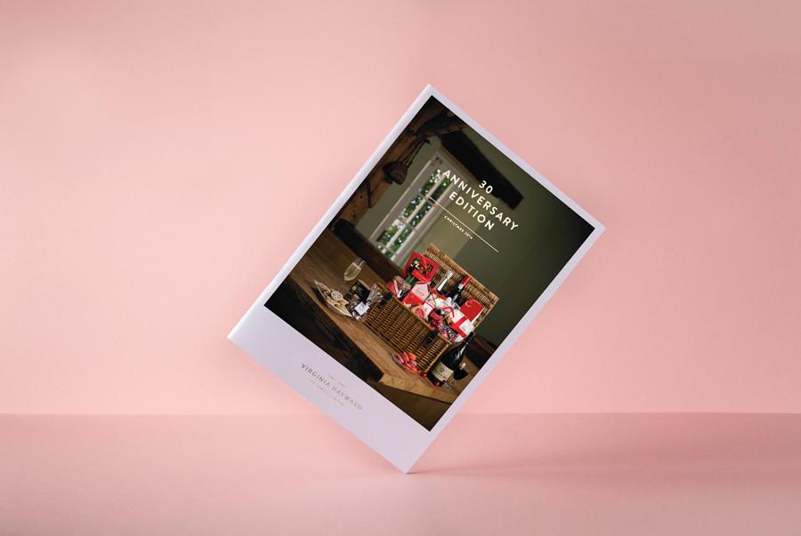 Brochure designed by Salad for British hamper business Virginia Hayward