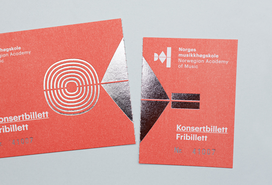 Visual identity and print for Norwegian Academy of Music by Neue designed in Oslo, Norway