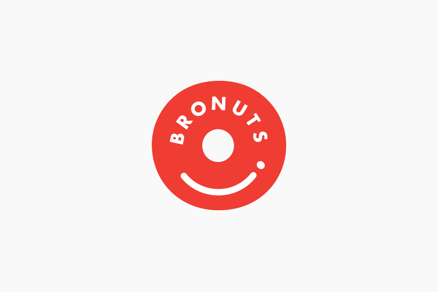 Logo for coffee and doughnut business Bronuts by Canadian graphic design studio One Plus One