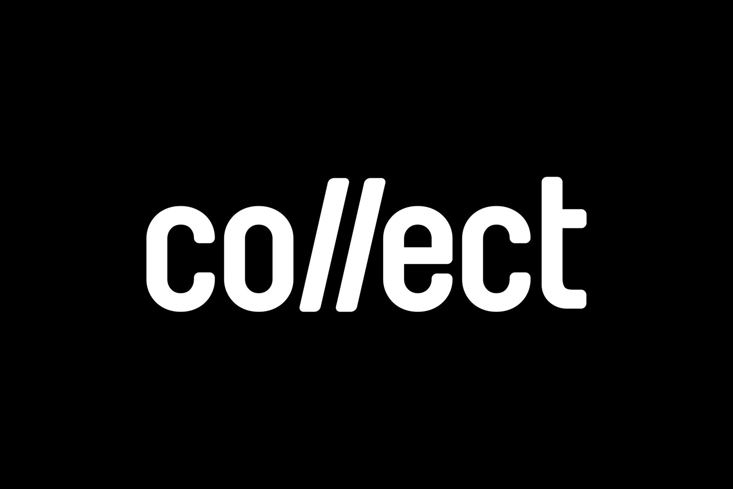 Logo for contemporary international art fair Collect, designed by Spin, London, UK