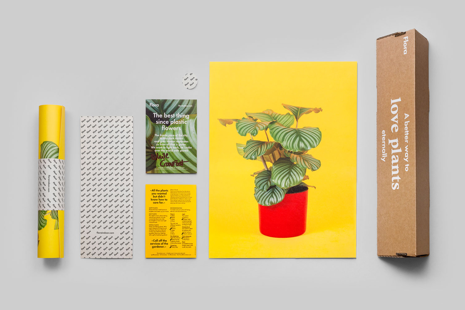 Visual identity and stationery by P.A.R for Barcelona based flower business Flora