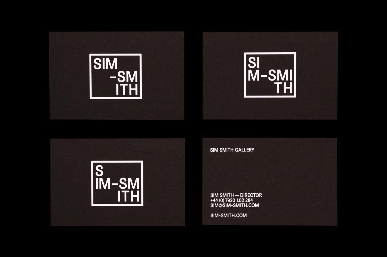 Black & White Branding – Sim Smith Gallery by Spin, United Kingdom