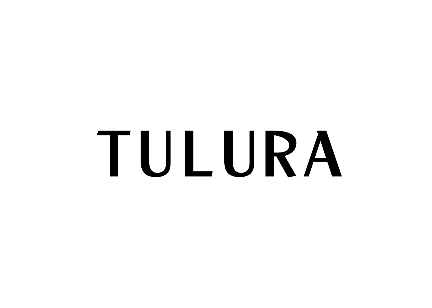 Logotype by Leeds-based design studio Build for New York luxury botanical skincare brand Tulura