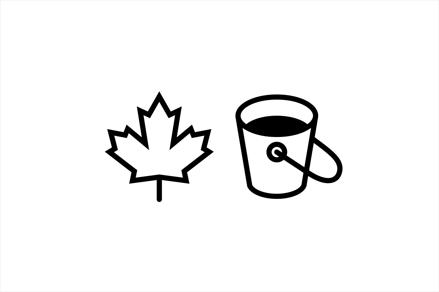 Iconography for premium maple syrup to celebrate UK-based graphic design studio Believe in's expansion into Canada