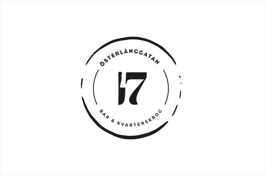 Logo for Stockholm restaurant Österlånggatan 17 by Lobby Design