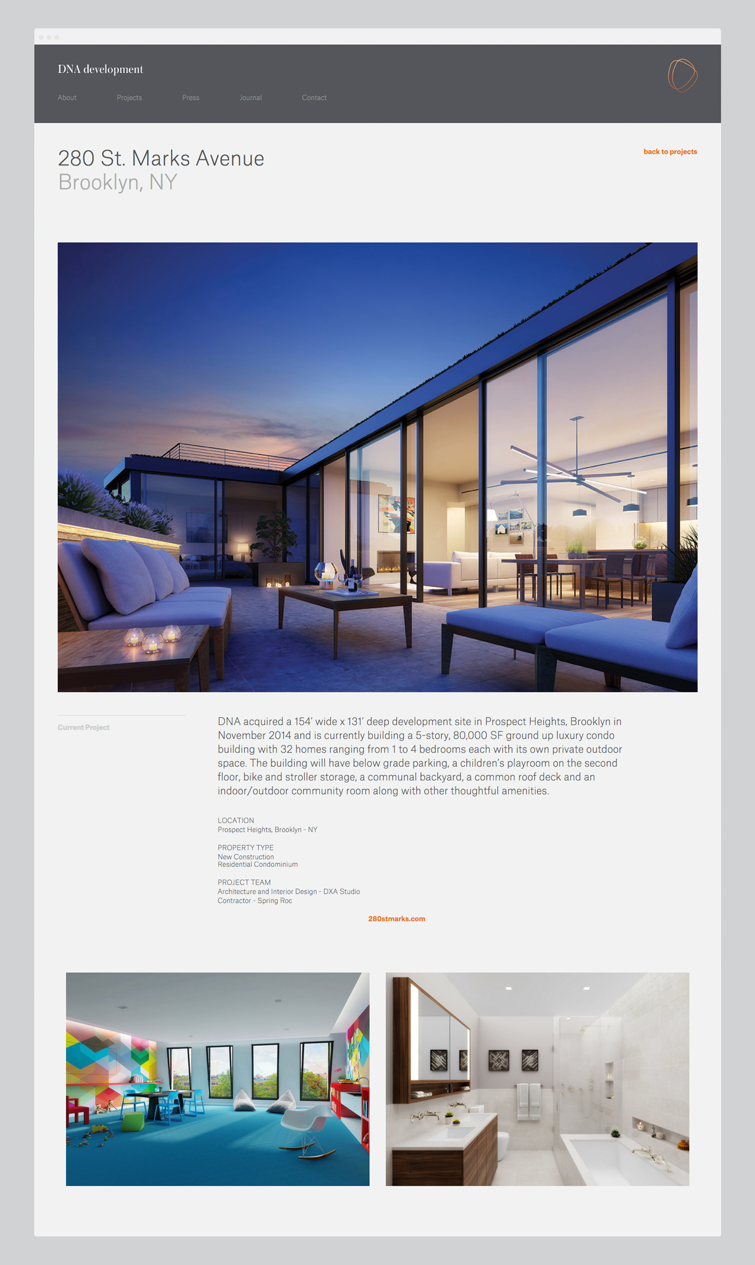 Brand identity and website for real estate investment and development business DNA development by Face