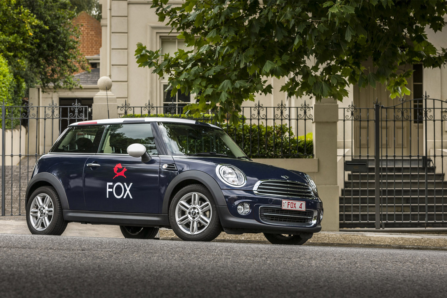 Brand identity and car livery for Fox Real Estate by Parallax Design, Australia