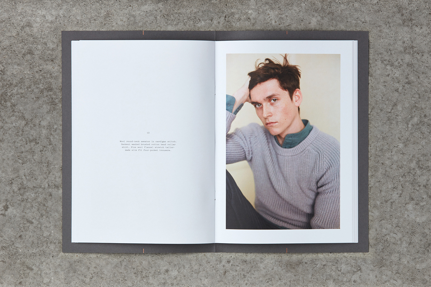Brand identity and lookbook by Leeds-based graphic design studio Only for Parisian menswear label Helbers