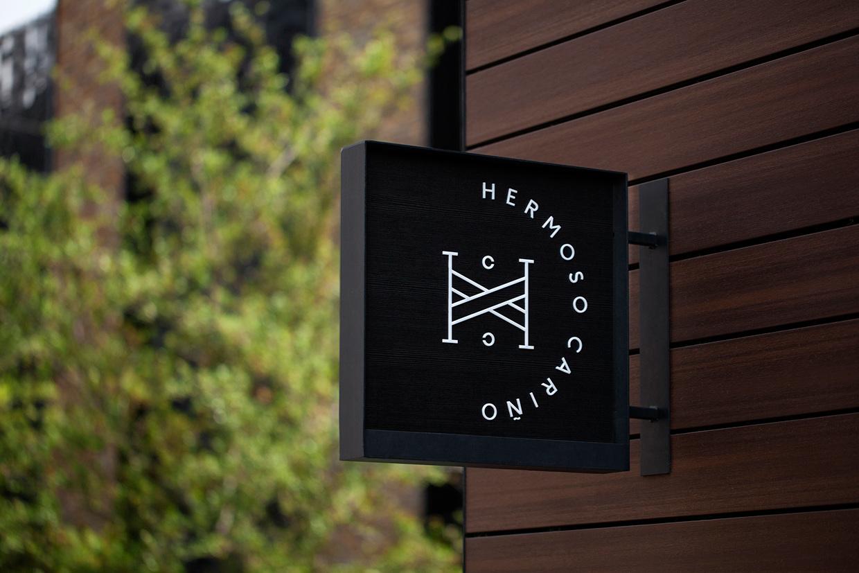Sign for designer gift shop Hermoso Cariño by La Tortilleria