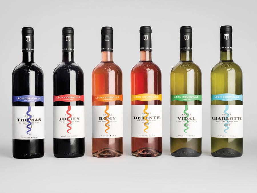 Wine labels for Léon Courville Vigneron designed by lg2 boutique