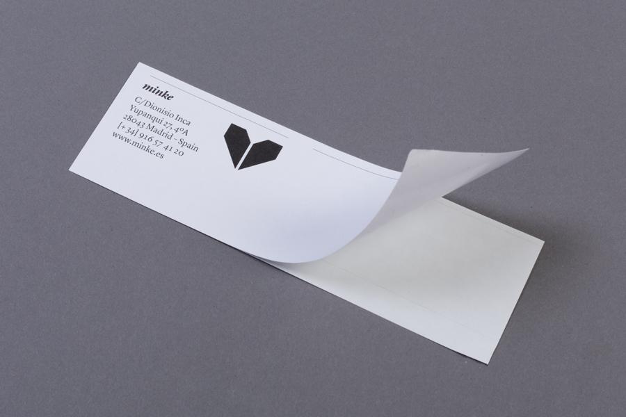 Mail sticker design by Atipo for print production studio Minke