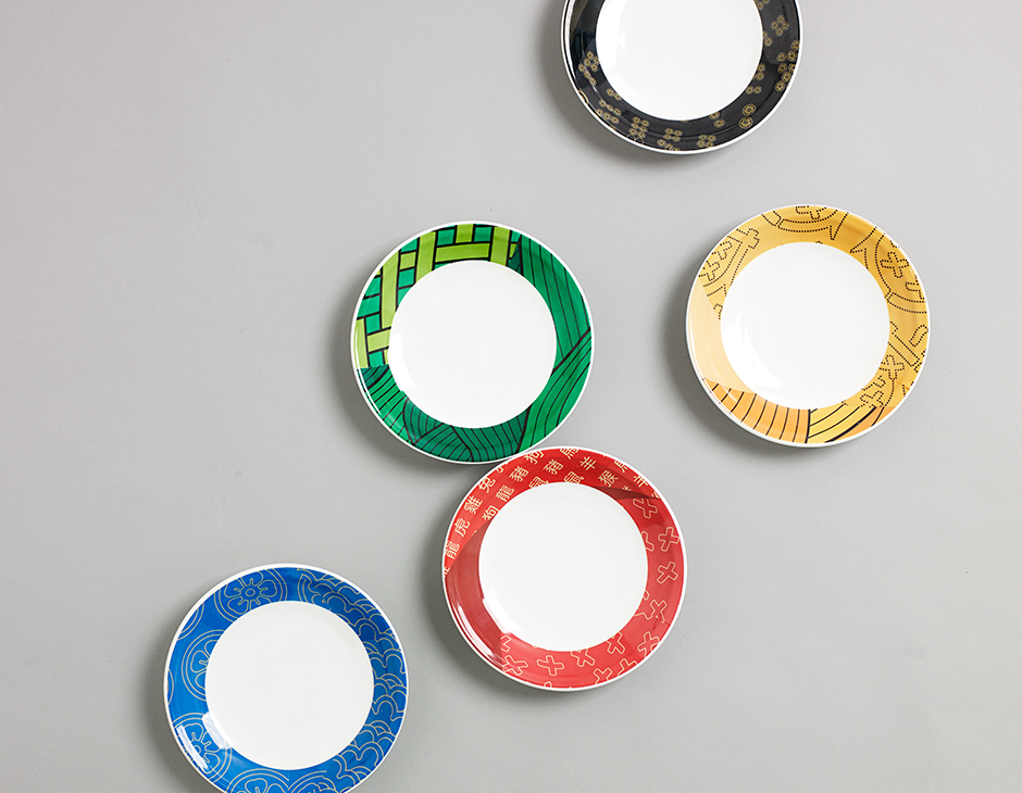 Branded tableware for Shuang Shuang by ico Design, United Kingdom