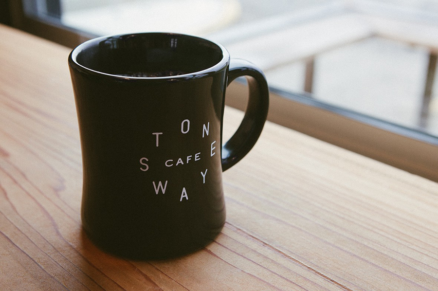 Branded mug for Stone Way Cafe designed by Shore