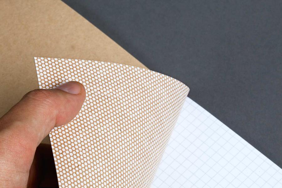 Branded notebook for German graphic design business Studio Una