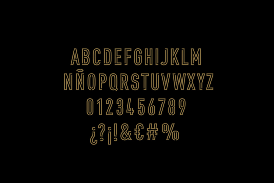 Custom typography by graphic design studio Moruba for Wine Fandango