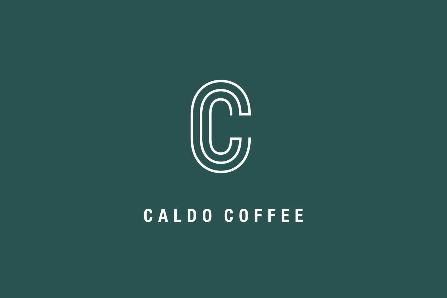 Logo designed by 25ah for Stockholm cafe Caldo Coffee at the Scandic Continental