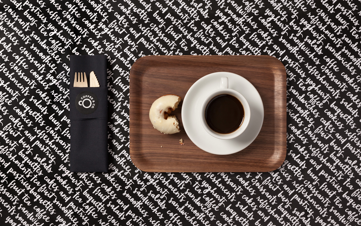 Branding by Bond for cruise ship cafeteria concept Coffee & Co.