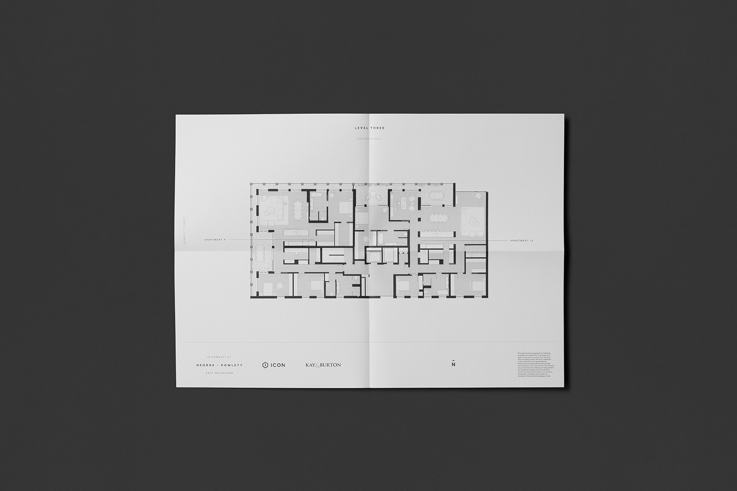 Floor plan by Studio Brave for East Melbourne apartments George + Powlett
