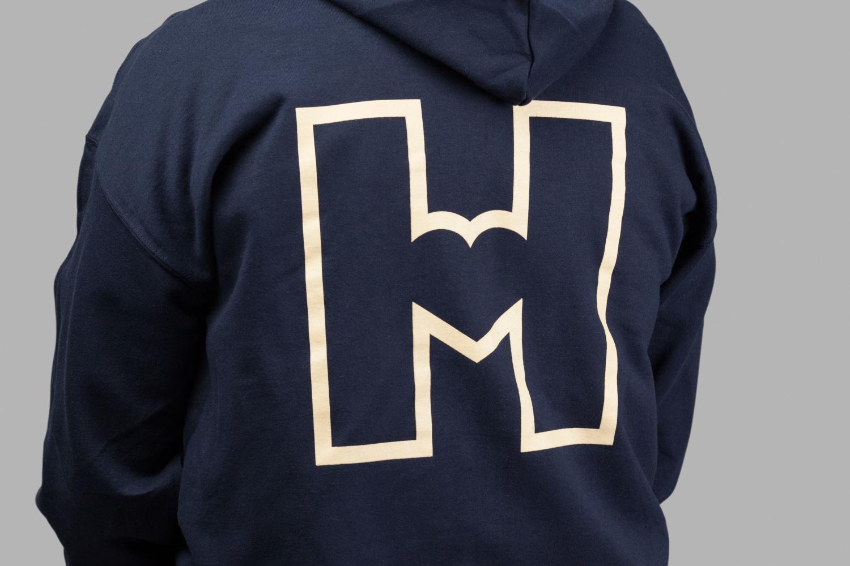 Logo and branded hoodie by Finnish graphic design studio Werklig for Helsinki City Museum