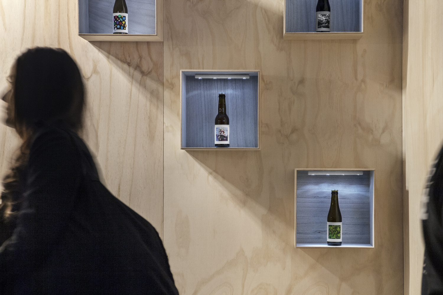 Pop-up bar for O/O Brewing designed by Emma Magnusson and Angelina Kjellén with signage by Lundgren+Lindqvist