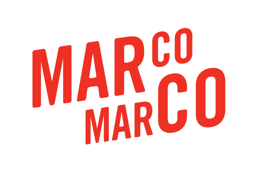 Sans-serif logotype designed by Acre for Singapore based Italian restaurant business Marco Marco