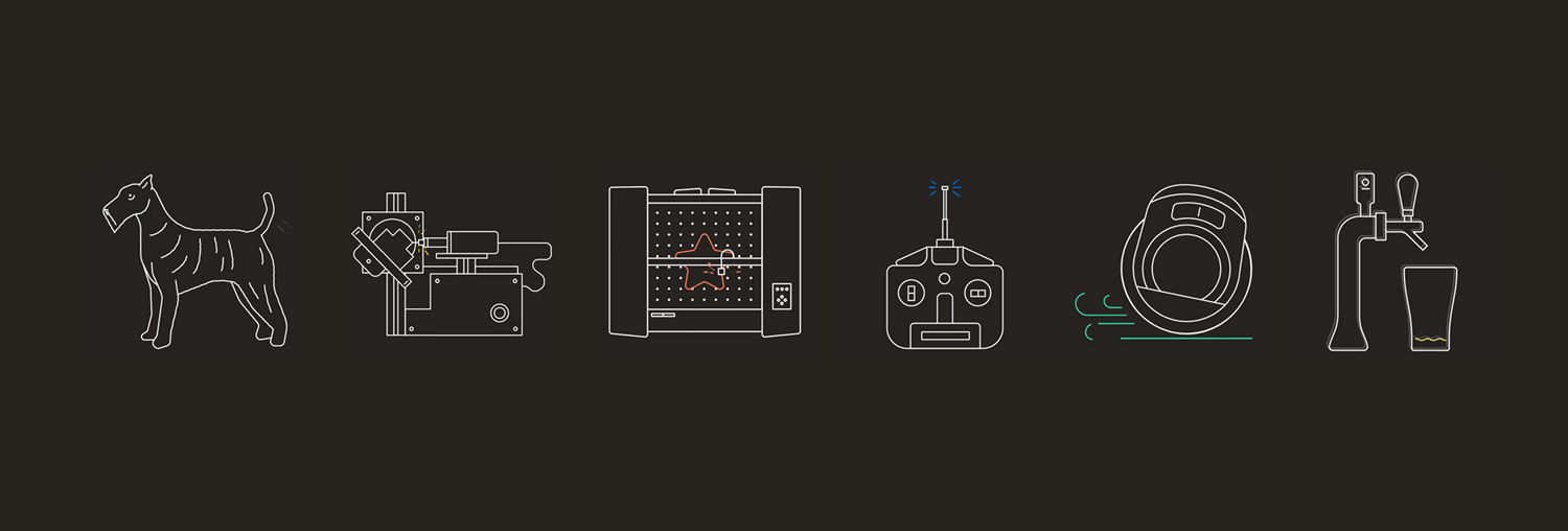Brand identity and pictograms for venture fund and start-up studio Playground by Character