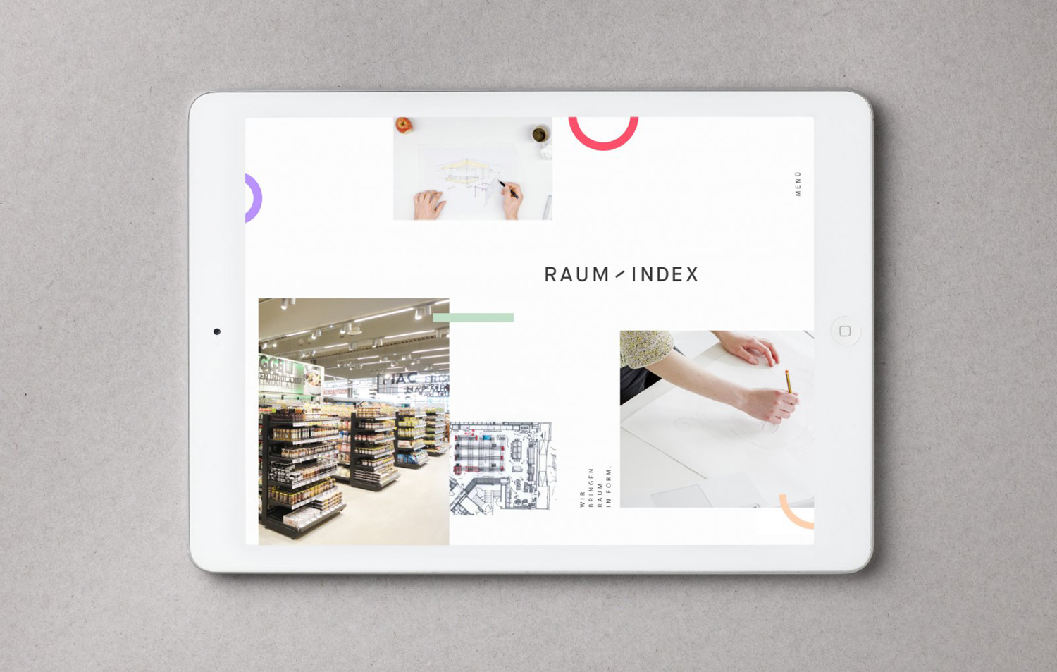 Brand identity and website by Graz and Wien-based Moodley for Austrian shop design studio Raumindex