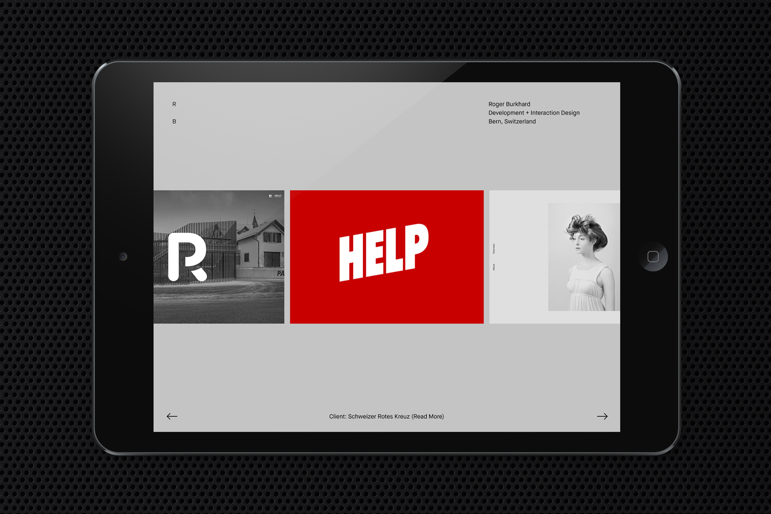 Logo, stationery, business cards and website by Lundgren+Lindqvist for Swiss web development and interactive studio Roger Burkhard