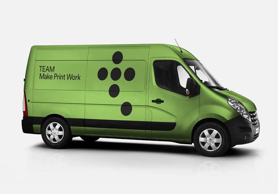 Visual identity and van livery for Leeds based print production business Team Impression by Design Project