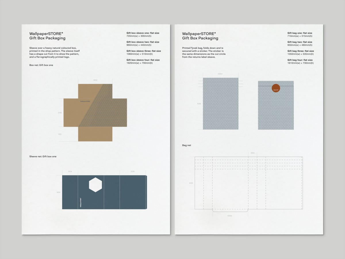 Packaging guidelines for WallpaperSTORE* by A Practice For Everyday Life, United Kingdom