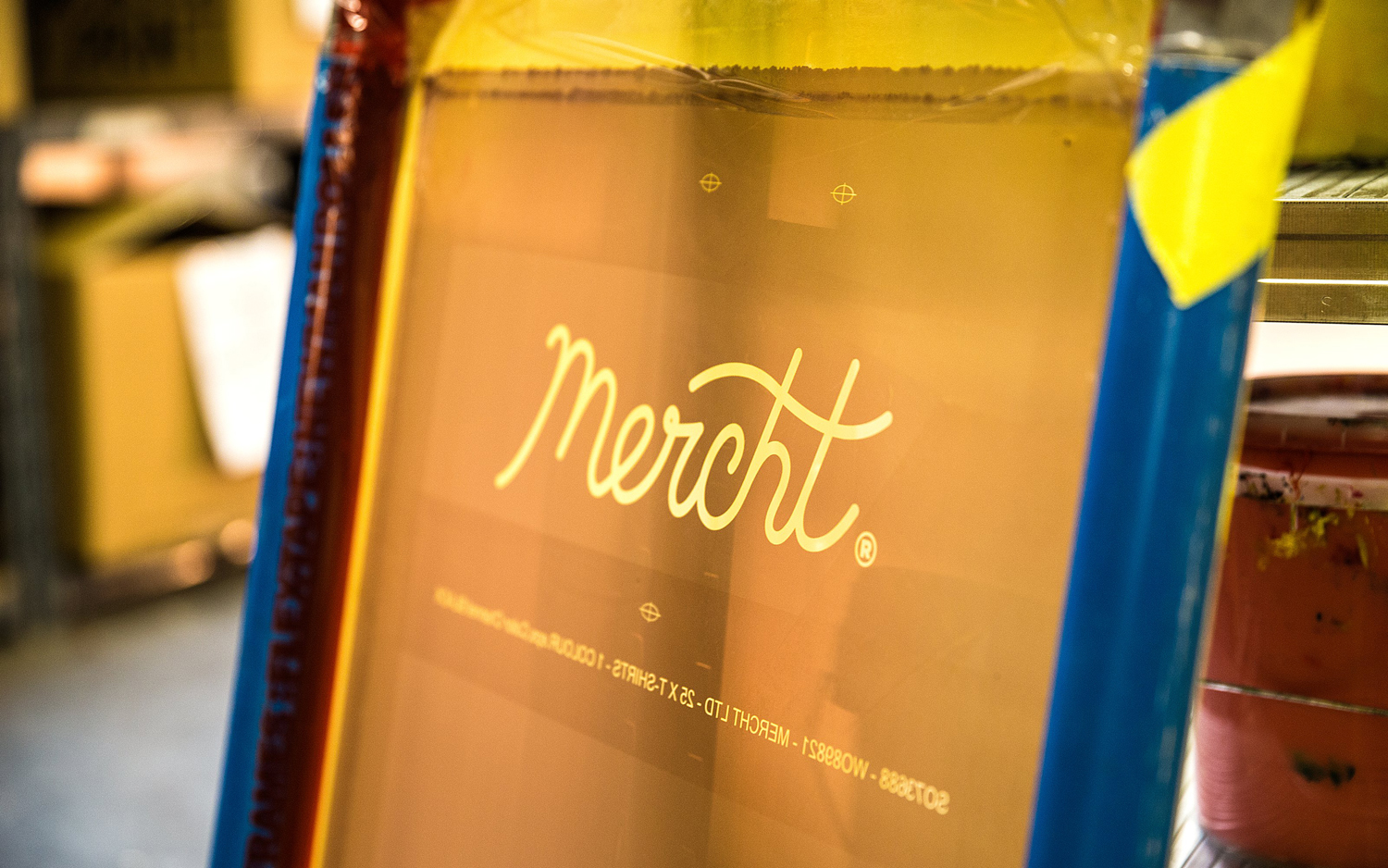 Brand identity for UK based custom merchandise business Mercht by Robot Food