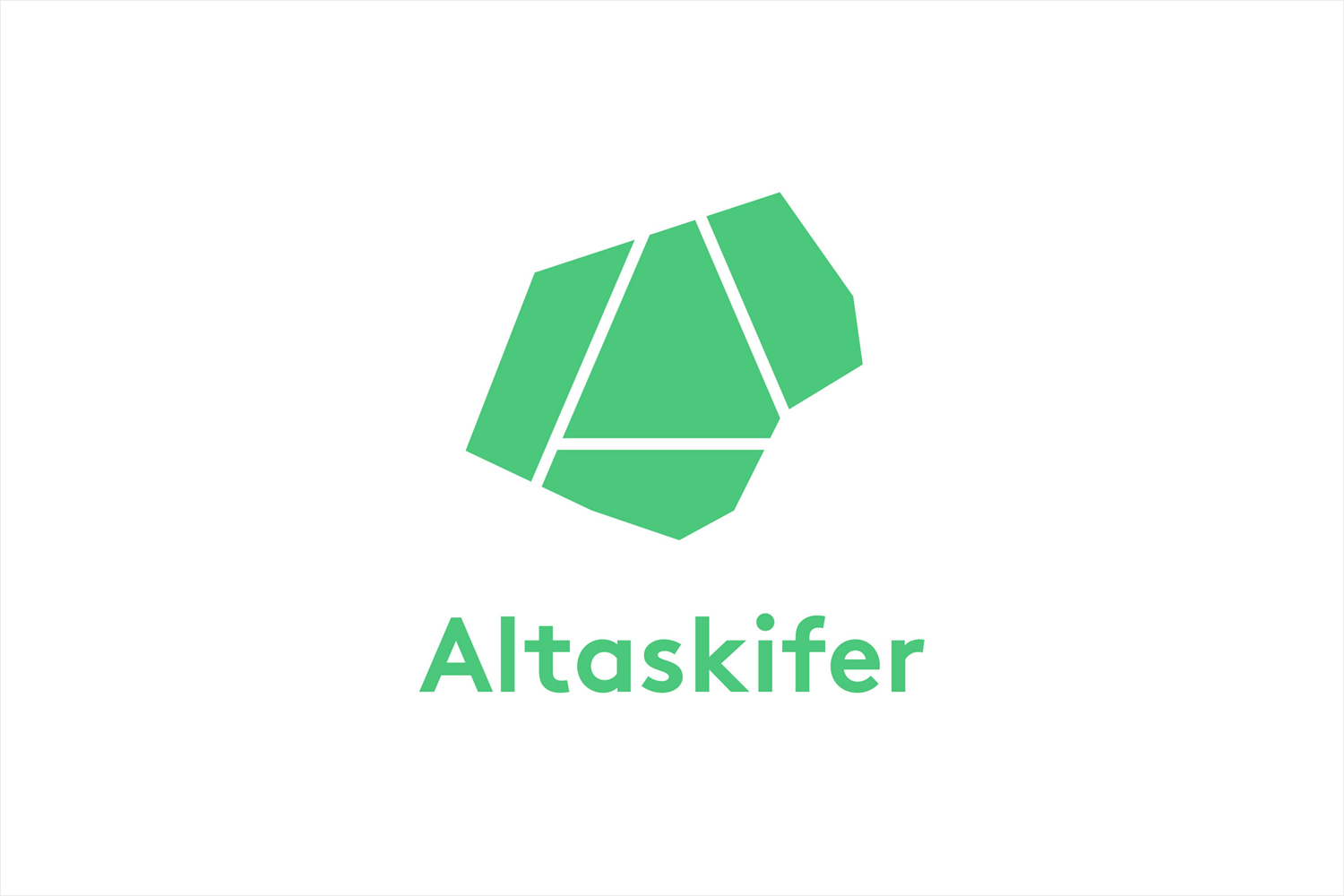 Logo for Alta Quartzite mining and sales business Altaskifer designed by Neue, Norway