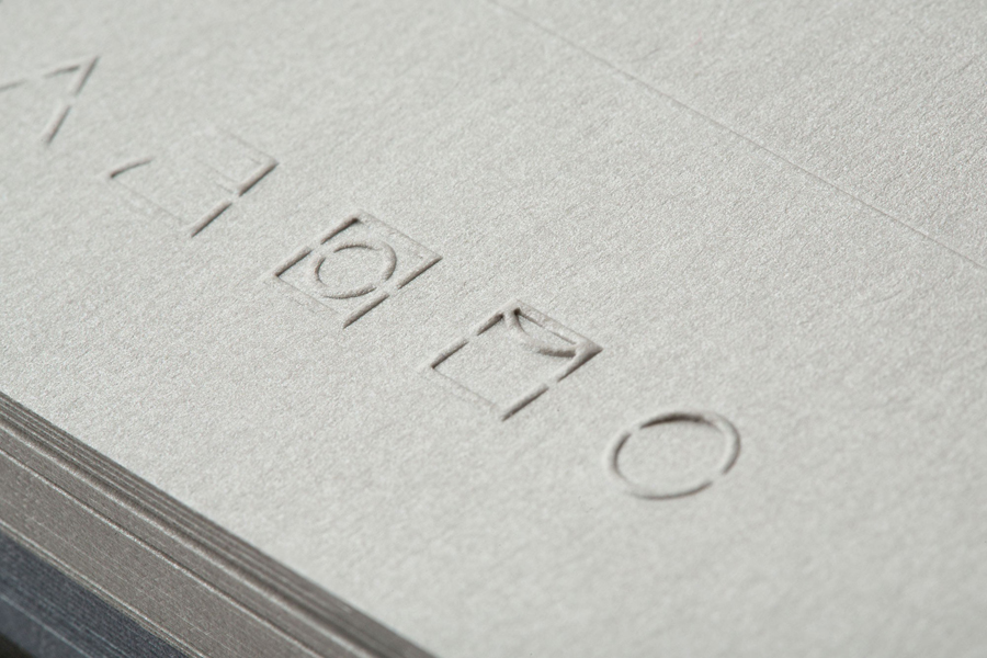 Blind embossed print for Milan based fashion label Decontoured by Bunch