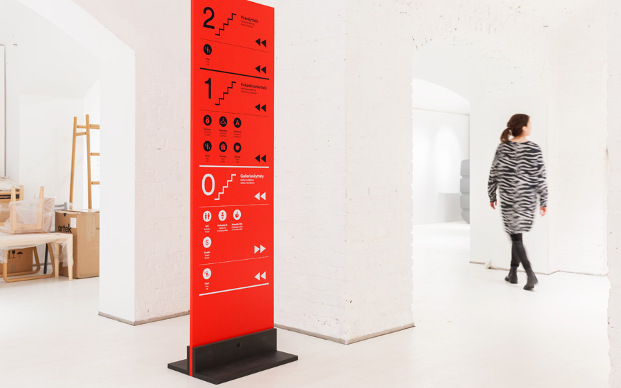 Wayfinding and signage by Finnish graphic design studio Bond for Design Museum