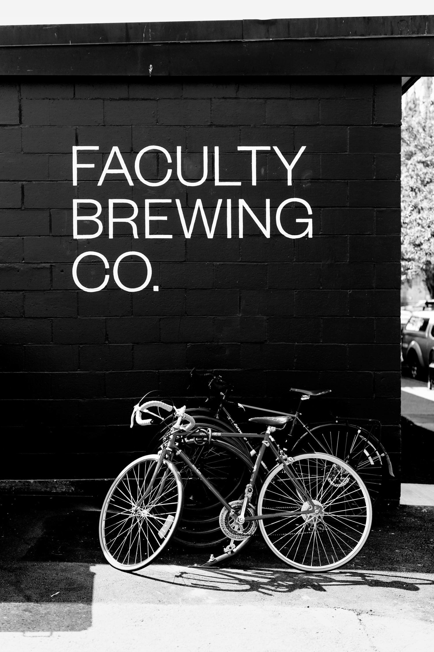 Logotype, packaging and signage by Canadian graphic design studio Post Projects for Faculty Brewing Co.