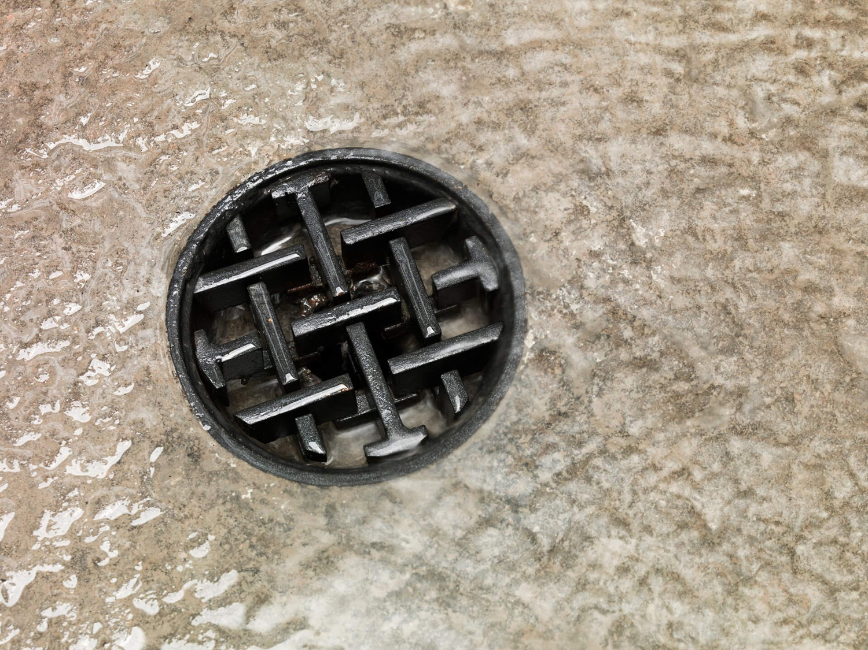 Logo as drain cover designed by Mucho for Spanish 5-star hotel Sant Francesc.